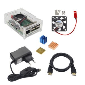 Raspberry PI B+ кулер+корпус+радиаторы+БП